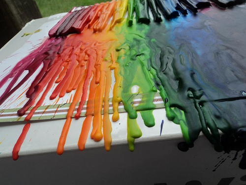 Clean Melted Crayon Off Plastic Material